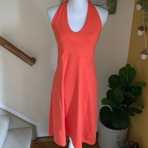 Patagonia orange halter dress stretch knit size M